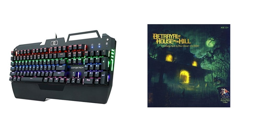 Save Big on a Backlit Mechanical Gaming Keyboard, Play 'Betrayal At House On The Hill' – Daily Deals!