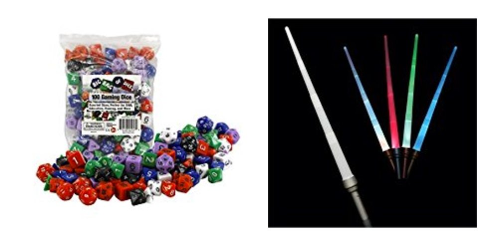 Get a Bag of 100 Gaming Dice for $12, or a Dozen Lightsabers for a Jedi Party – Daily Deals!