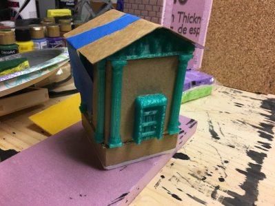 Door and Roof added