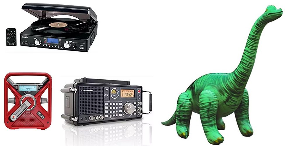 Save on Turntables, Emergency Radios, and Shortwave; Get a 48″ Brachiosaurus – Daily Deals!