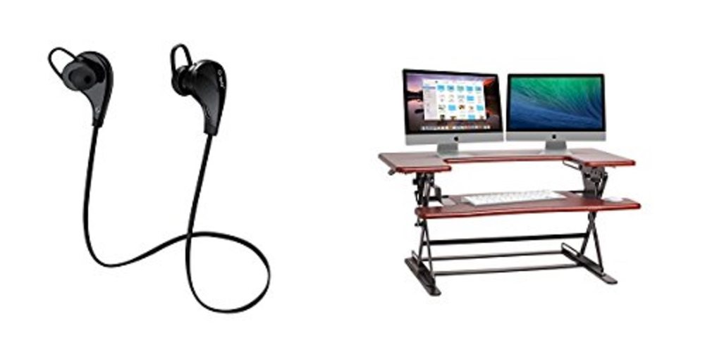 Daily Deals on Bluetooth Earbuds ($20!); Adjustable Sit/Stand Desk for 70% Off!