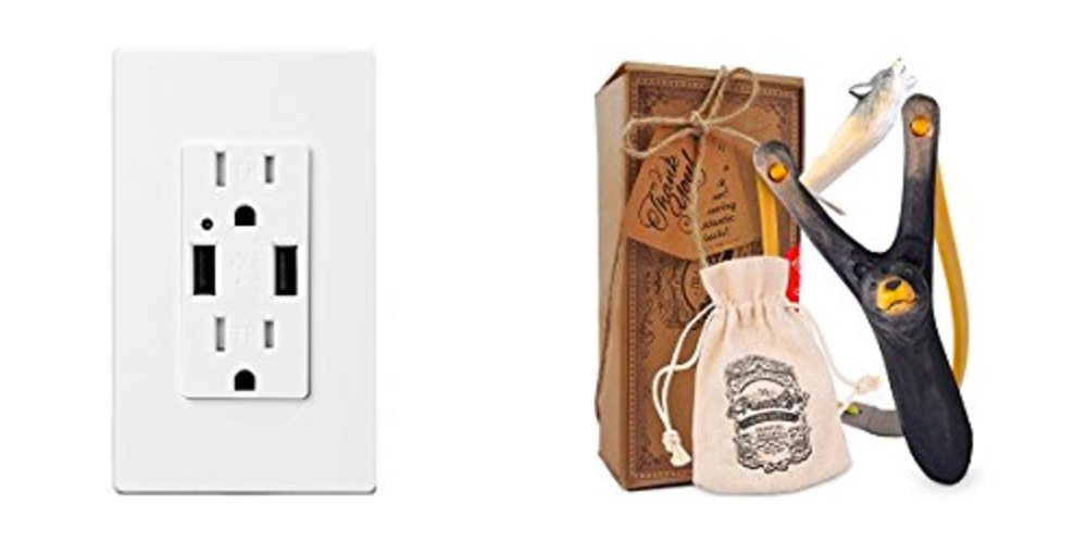 Save Big on Power Outlets With USB Ports; Get a Hand-Carved Slingshot – Daily Deals!