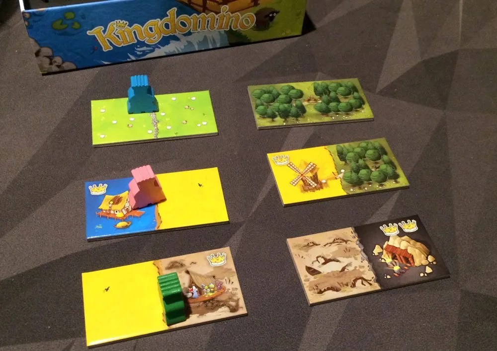 Kingdomino layout--a tabletop game adjusted for all ages