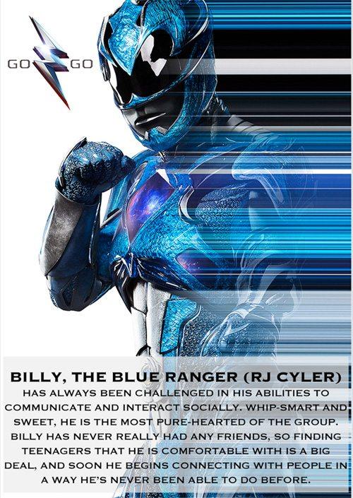 Blue Ranger from Saban's Power Rangers movie