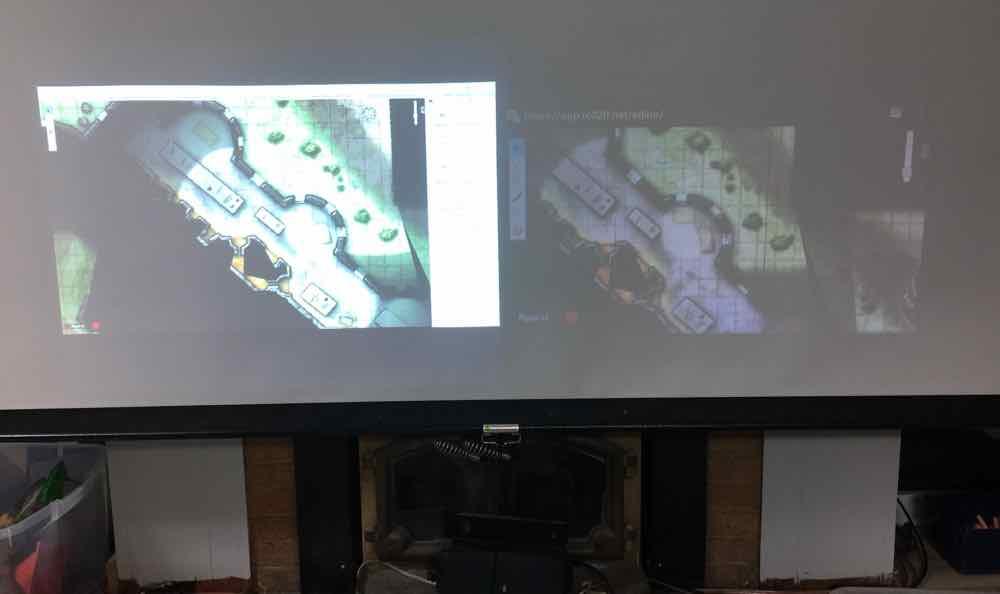 Pond vs 2200 Lumen Projector