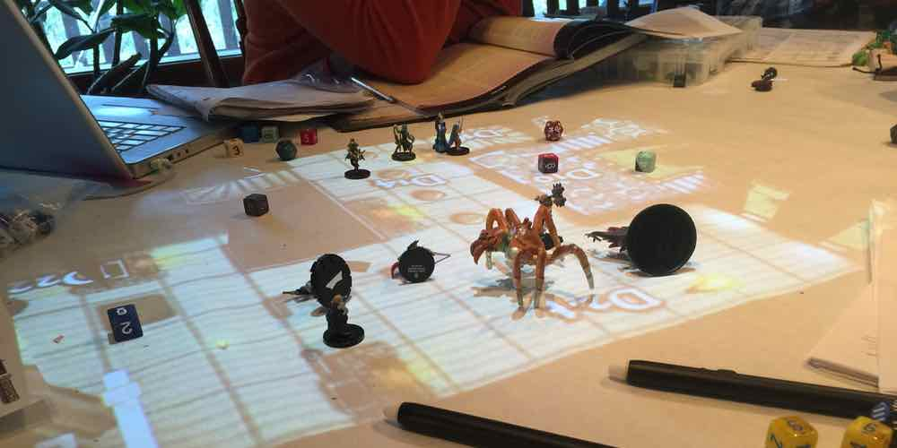 Turn Your Table Top Into an Interactive Display with the