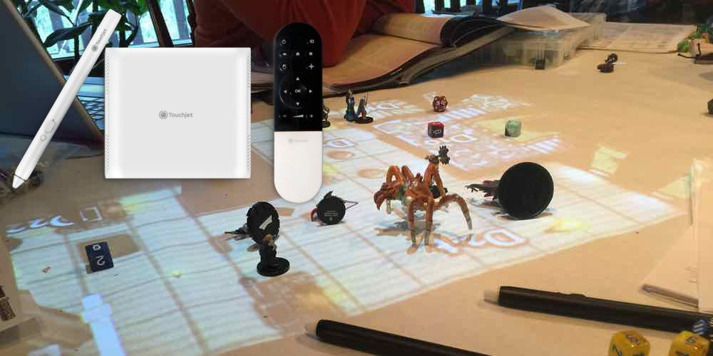 Turn Your Table Top Into an Interactive Display with the Touchjet Pond