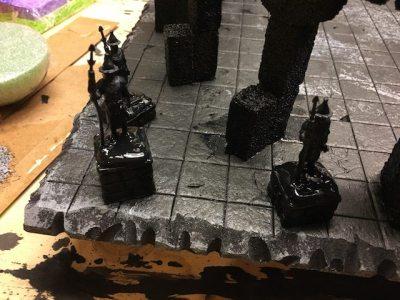 Statues black base