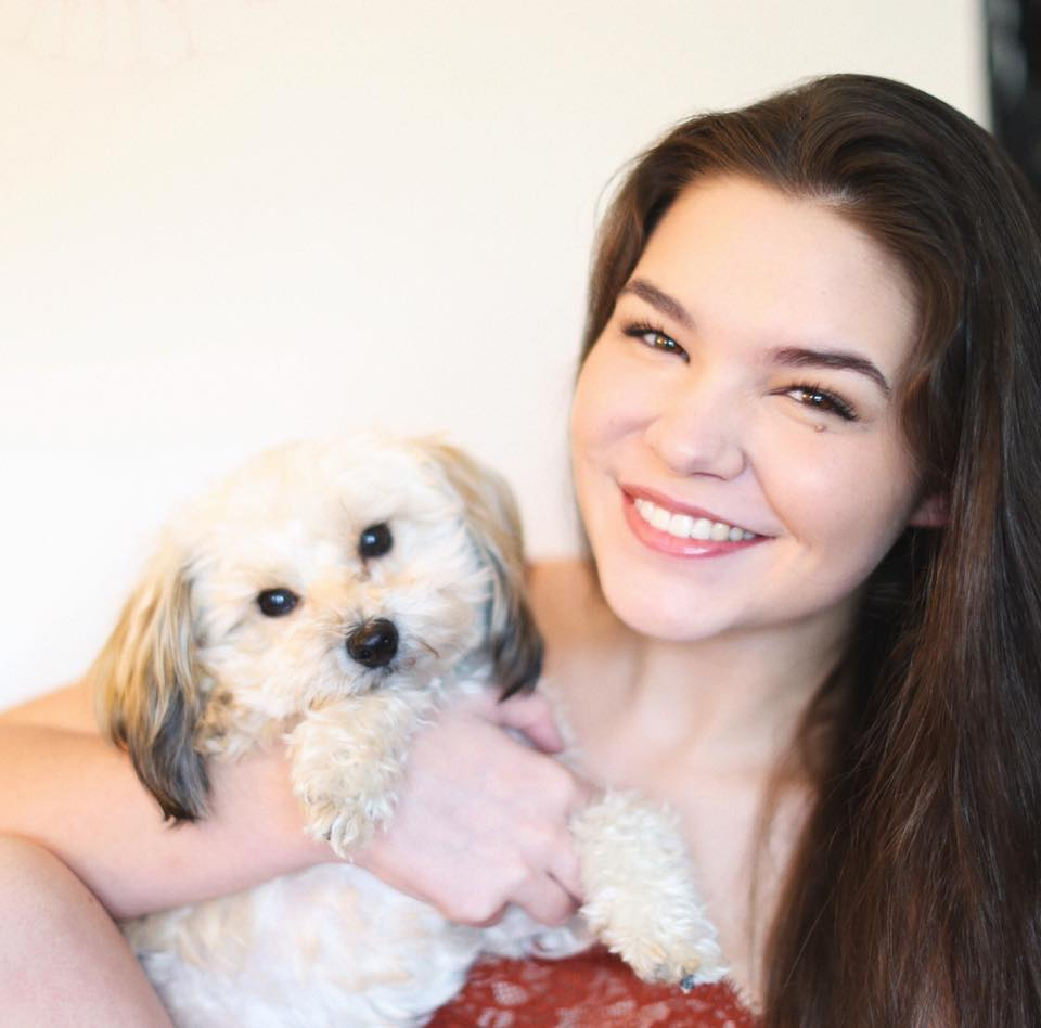 Madison and her rescue dog, Ezra. Photo courtesy of Madison McLaughlin.