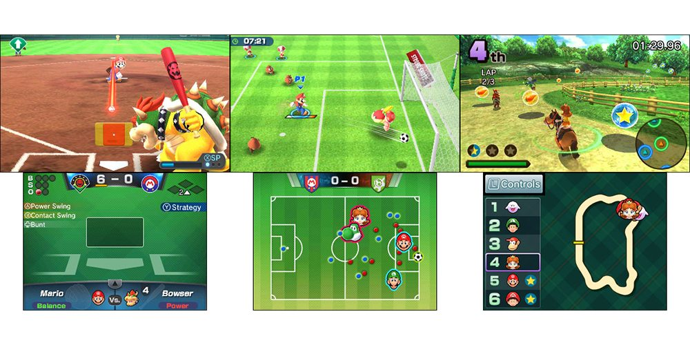 Mario Sports Superstars Baseball, Soccer, and Horse Racing