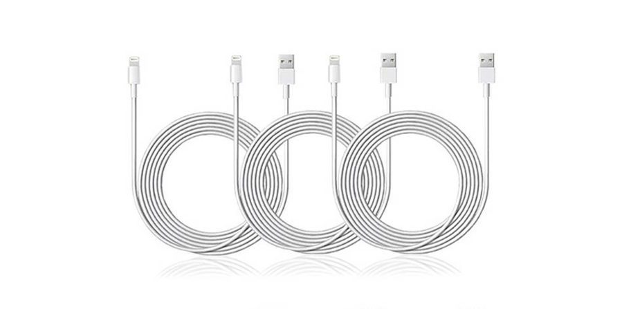 GeekDad Daily Deal: 3-Pack of 10-Ft MFi-Certified Lightning Cables