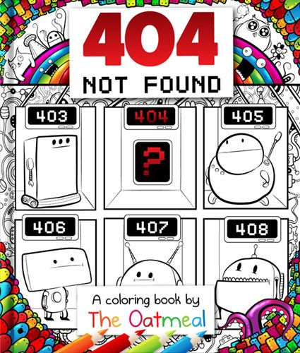 404 Not Found coloring book
