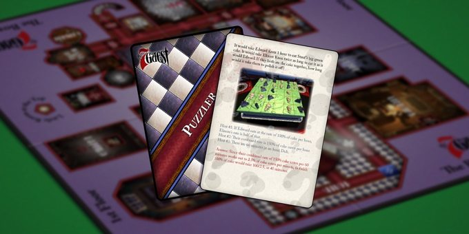 A Sample Puzzle Card Based on The Cake Puzzle in the Original Game, Image: Trilobyte Games