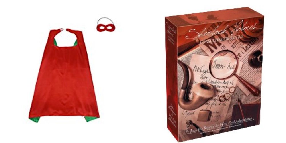 Save Big on a Satin Cape & Mask Combo; Get the Sherlock Holmes Detective Game – Daily Deals