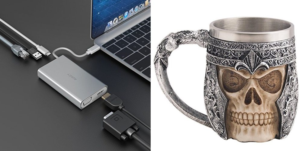 Save Big on a USB-C Hub (HDMI, Ether, VGA), Drink Your Coffee Out of a Skull – Daily Deals!