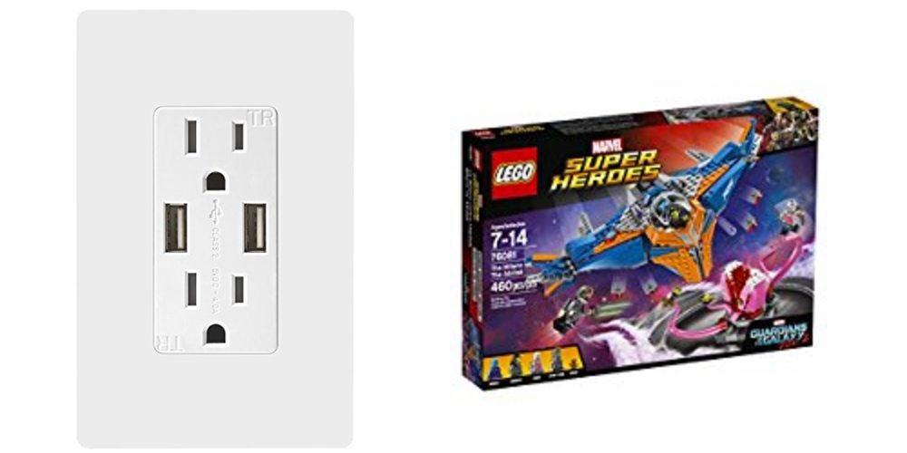 Upgrade Your Power Outlets With USB; Fly the LEGO Milano With 'Guardians Vol. 2' Kits – Daily Deals!