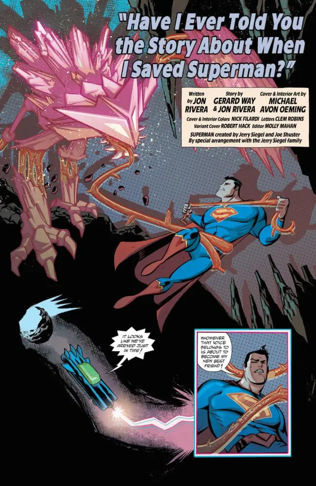 Superman in Cave Carson Has a Cybernetic Eye #7