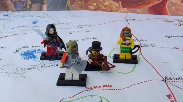 LEGO D&D curse of strahd party