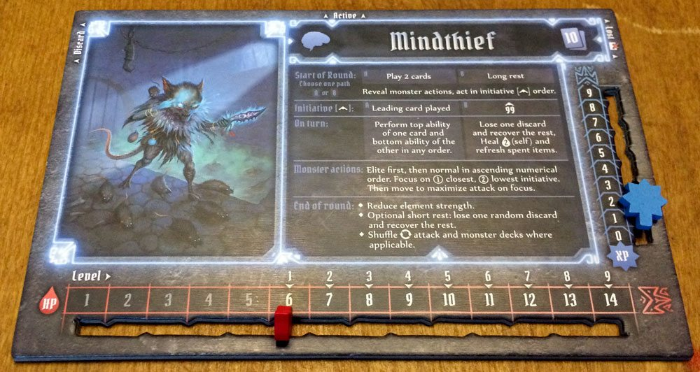 Gloomhaven Mindthief board