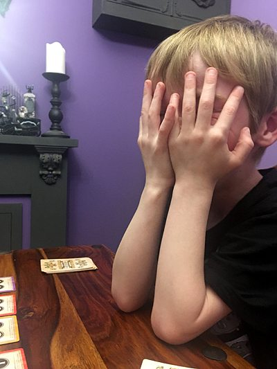 My son laughs himself silly playing Great Scott! Image: Sophie Brown