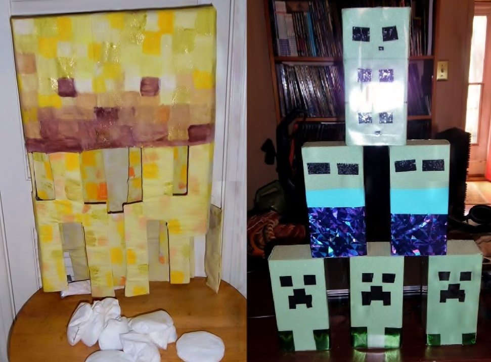 Prime How We Did Our Minecraft Birthday Party Geekmom Ocoug Best Dining Table And Chair Ideas Images Ocougorg