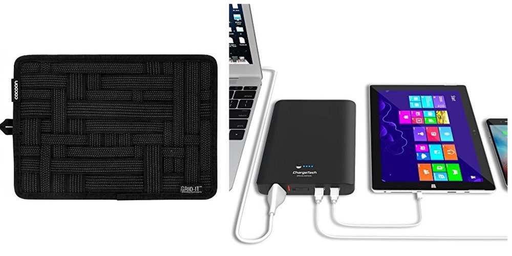 Get an Everyday Carry Organizer for Your Cables/Plugs for $13; Or a Portable AC Outlet/Charger – Daily Deals!