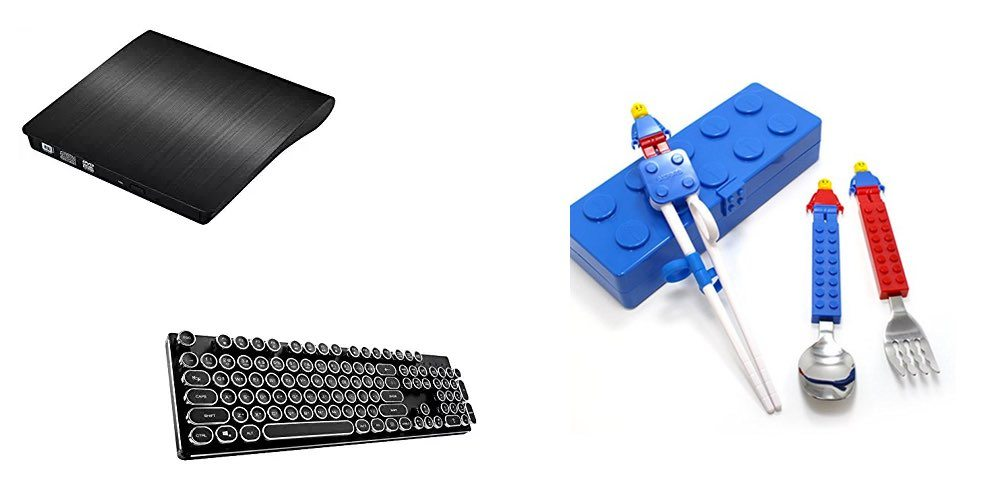 Get a USB CD/DVD Burner Drive for $24; Mech Keyboard for $89; LEGO Utensils – Daily Deals