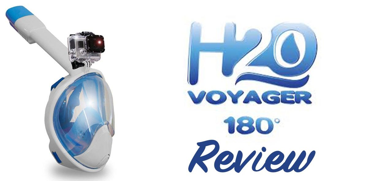 H20 Voyager 180 Full Face Snorkel Mask, GoPro Edition