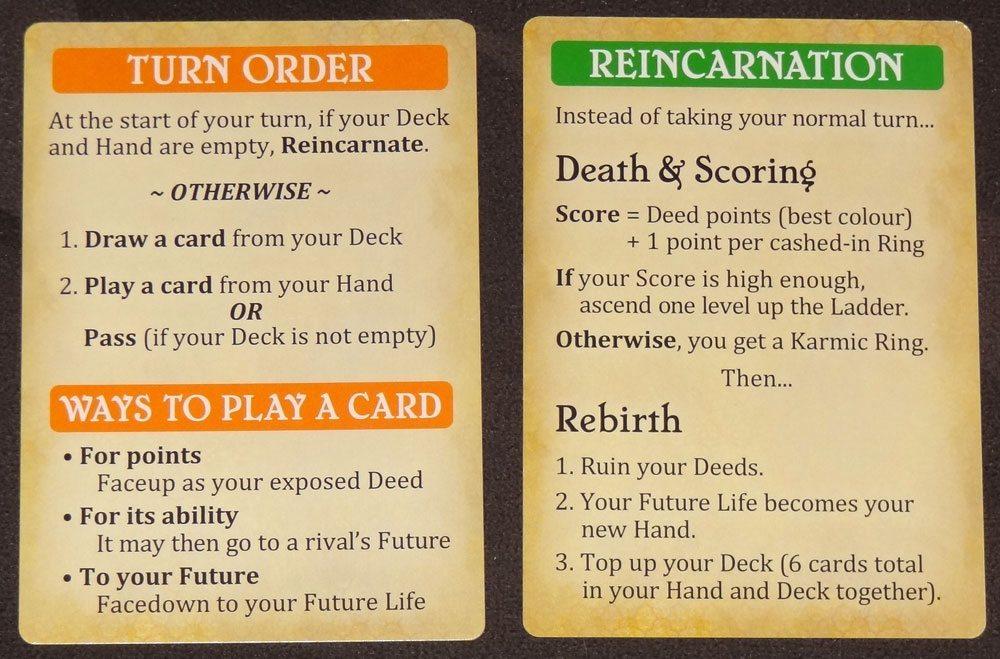 Karmaka reference cards