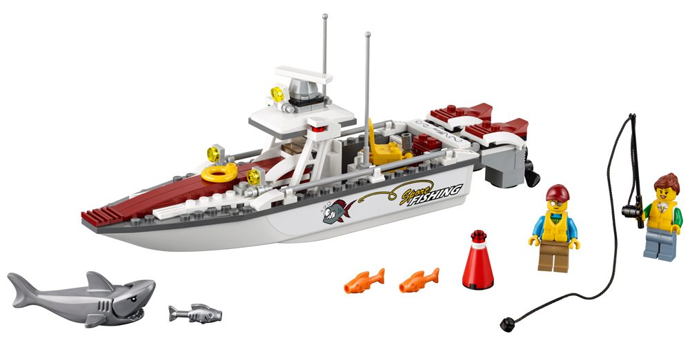 Teach Boat Safety With the LEGO City Fishing Boat