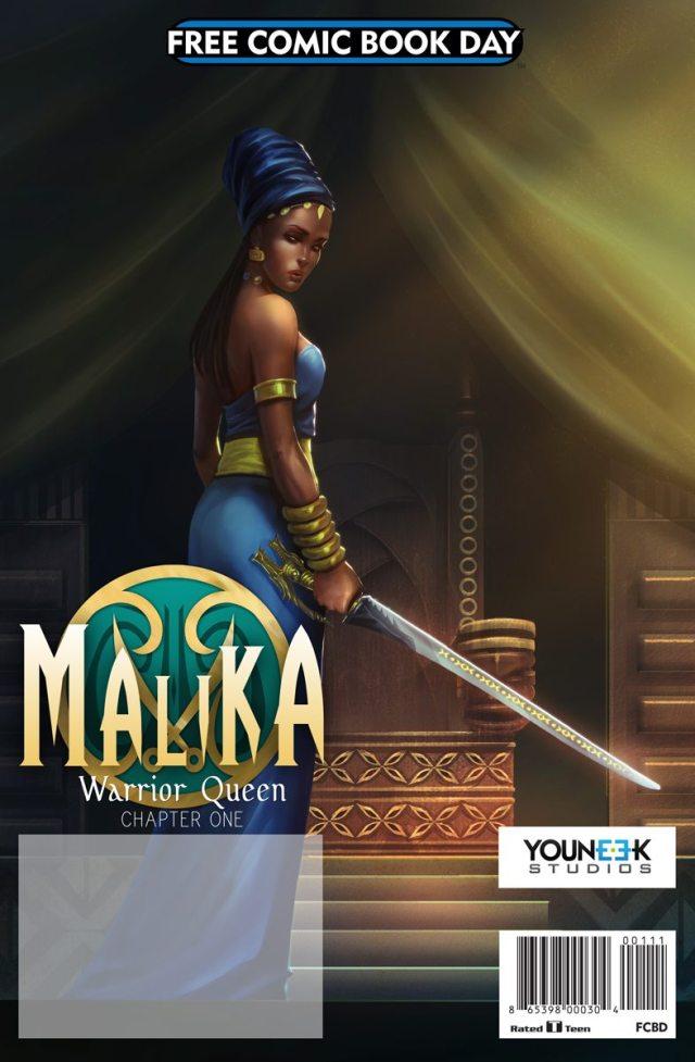 Malika: Warrior Queen comic cover