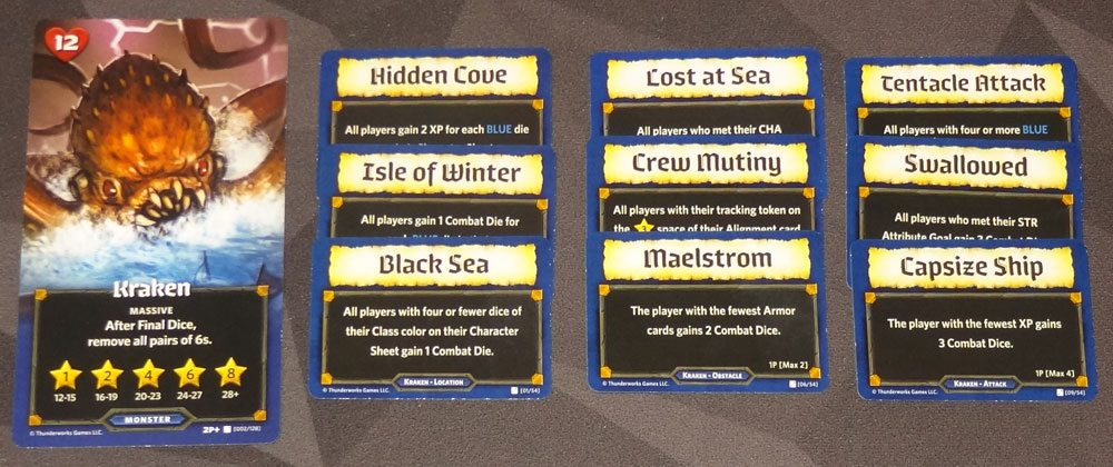 Roll Player: Monsters & Minions Kraken cards