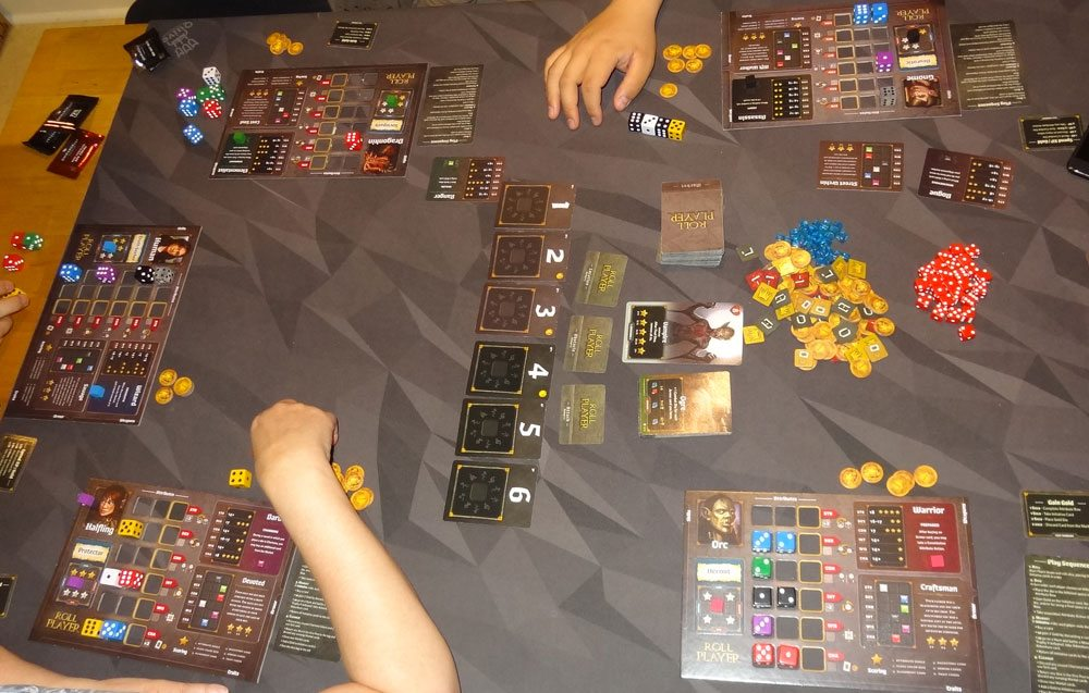 Roll Player: Monsters & Minions setting up starting dice