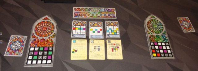 Sagrada 2-player setup