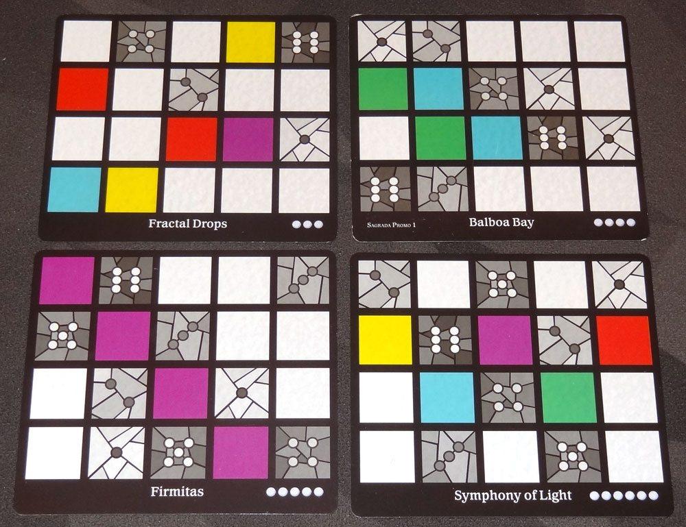 Sagrada window pattern cards