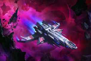 Starship traveling through the Drift