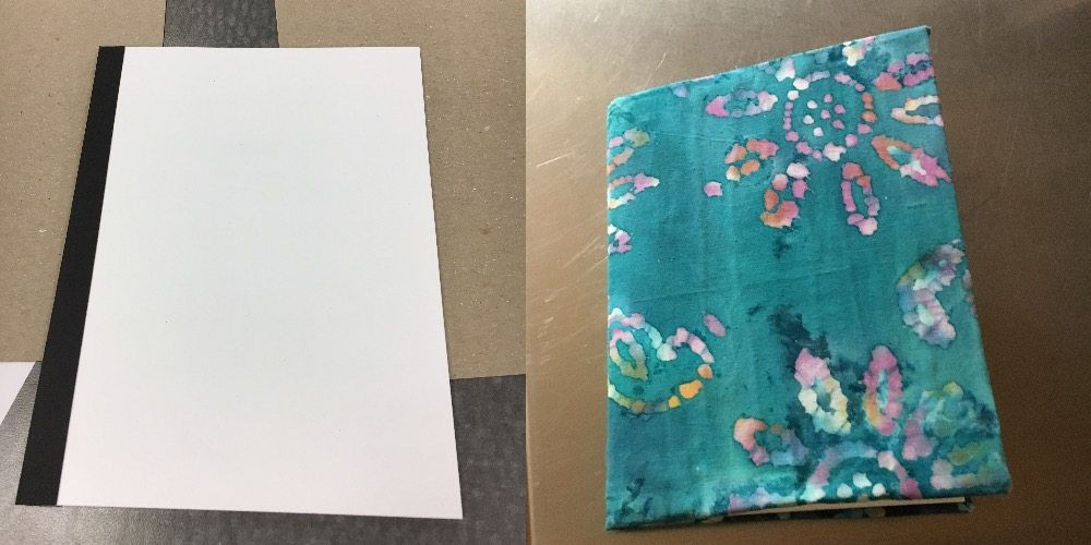Before and after cloth book cover