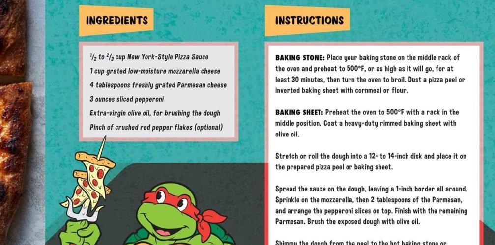 Review: Perfect Blend: 'The Teenage Mutant Ninja Turtle Pizza Cookbook'