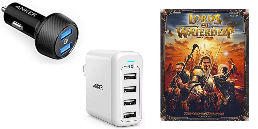 Get Great Chargers and Cables From Anker for Cheap; Play 'Lords of Waterdeep'  – Daily Deals!