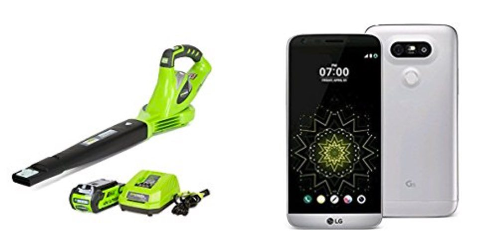 Get a 40V Electric Blower for $75; or an Unlocked LG G5 Smart Phone for $250 – Daily Deals!