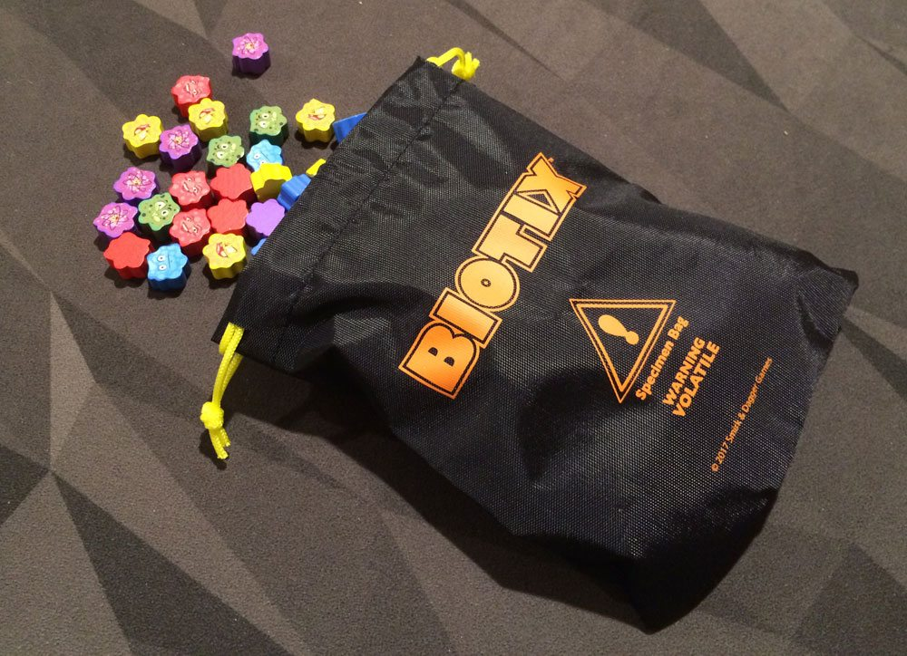 Biotix bag and meeples