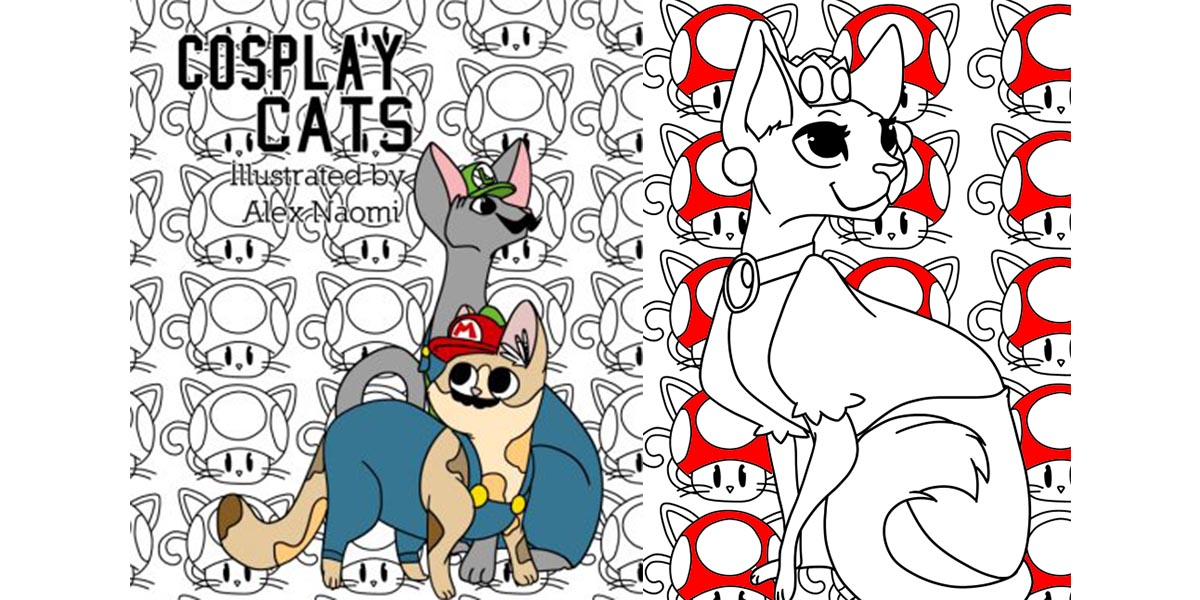 Pixel And Graphite Cats Of Cosplay Coloring Book Geekmom