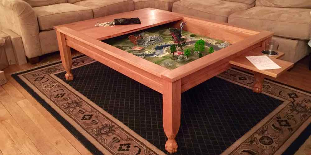Completed gaming table