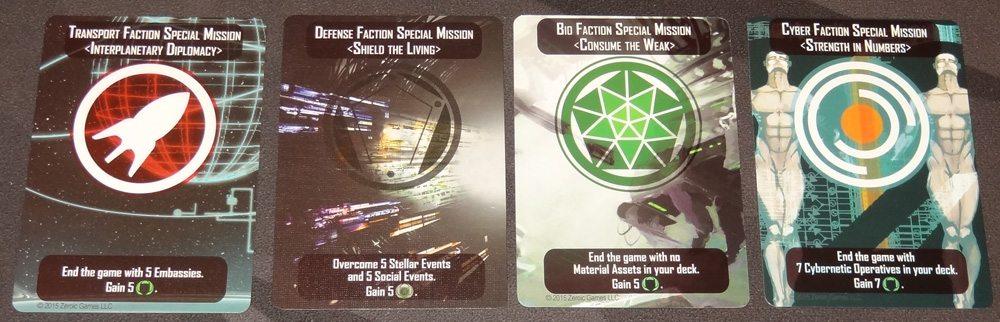 Helionox Mission cards