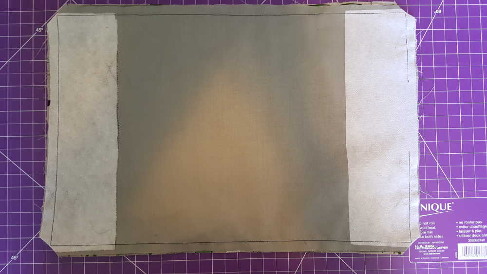 Midori insert cover Step 7: Clip the corners, turn right side out, then poke the corners so that they are square.
