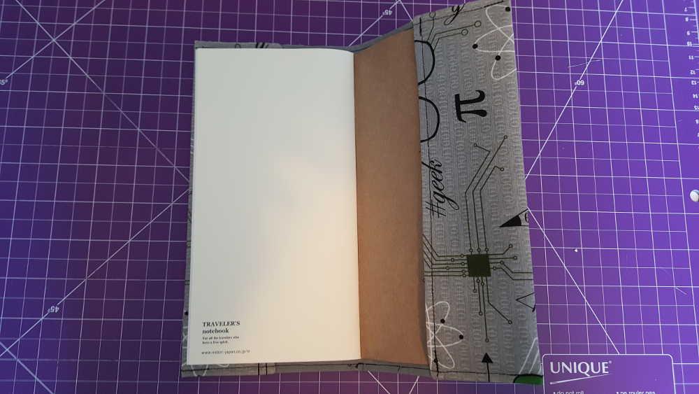 Midori insert cover Step 12: Slip the Midori insert into the cover.