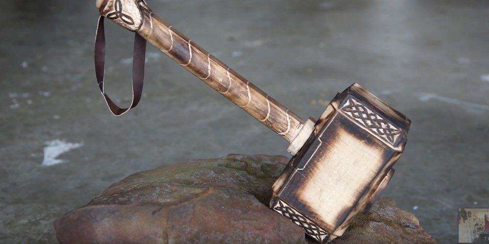 Beardless Man Builds Thor's Hammer