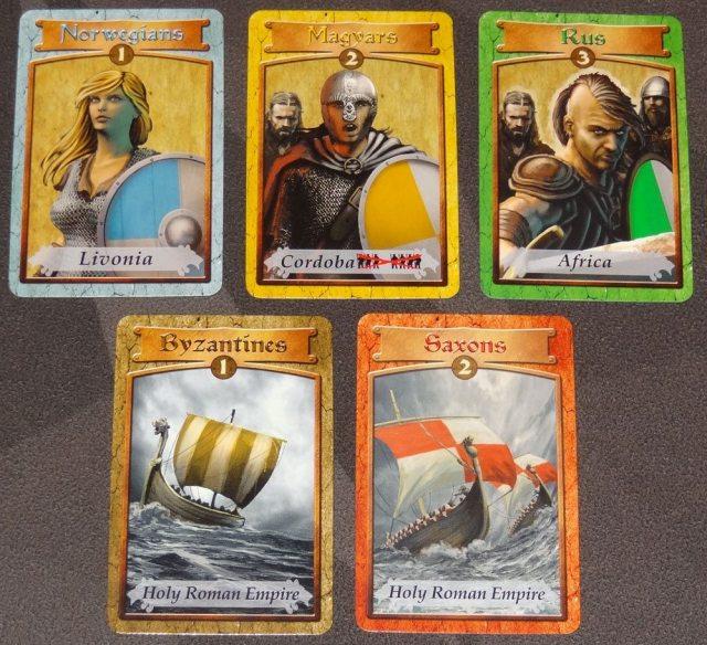 Saga of the Northmen influence cards