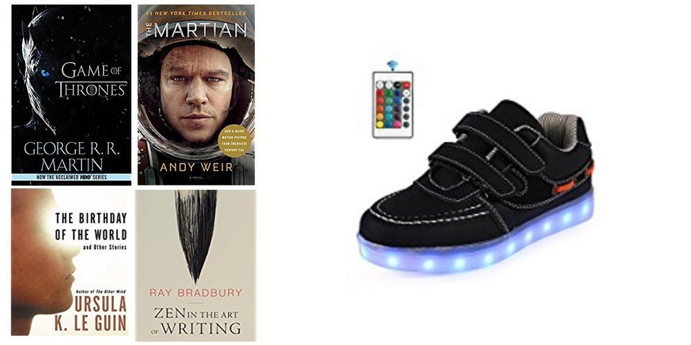 Geek Daily Deals for July 16, 2017: Sci-Fi and Fantasy Summer Reading; Light-up Kids Shoes
