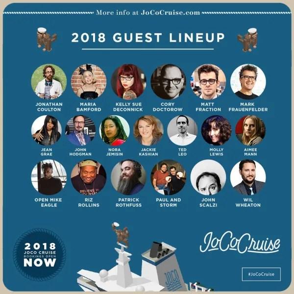 JoCo Cruise 2018 Guest Lineup Headshots